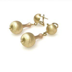 Spherical Gold Earrings
