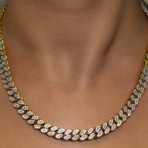 Gold Stoned Necklace