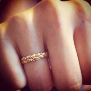 Gold Braided Wedding Band