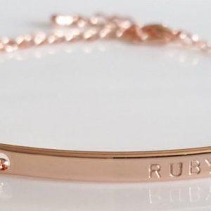 Gold Bar Bracelet