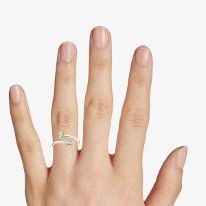 Diamond Open Ring