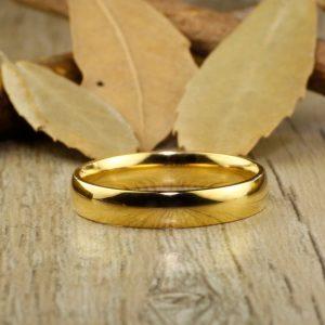 Gold Plain Wedding Band
