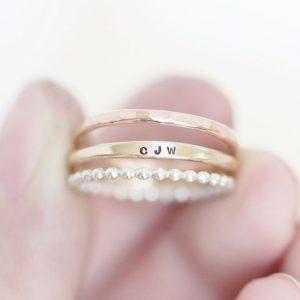 Set of 3 Gold Rings