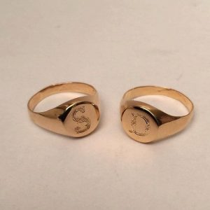 Personalized Gold Initial Ring