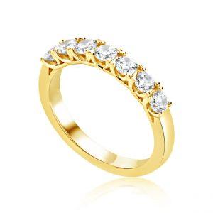 7 Stone Diamond Eternity Ring